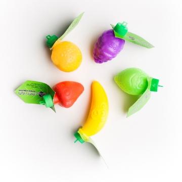 Image de FRUITS EN PLASTIQUE REMPLIS DE POUDRE
