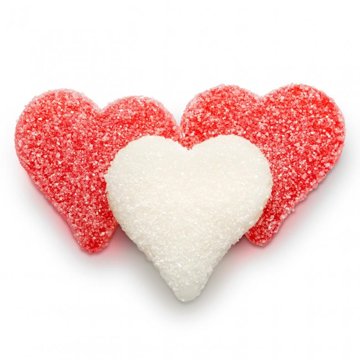 Picture of RED AND WHITE HEARTS