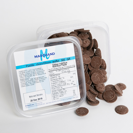 Picture of MILK CHOCOLATE WAFFERS (MARCHAND 12X300 GR)