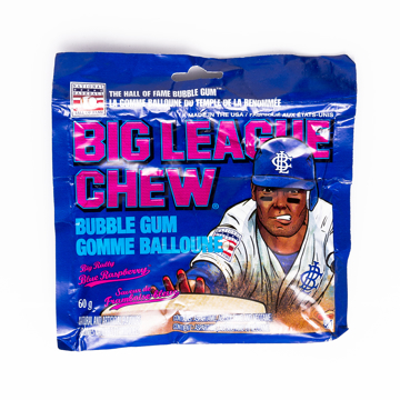 Picture of BIG LEAGUE CHEW BLUE RASPBERRY